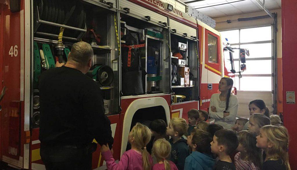 Brandschutzerziehung im Kindergarten Don Bosco Gersfeld