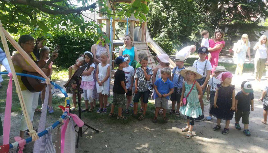 Kinder beim Fest im Kindergarten Gersfeld